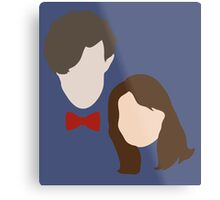 Doctor Who and Clara Oswin Oswald Metal Print