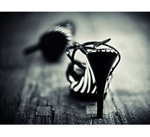 Be careful with my toes... Photographic Print