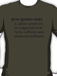 Programmer dictionary definition T-Shirt