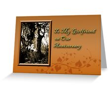 To My Girlfriend On Our Anniversary Willow Tree Greeting Card
