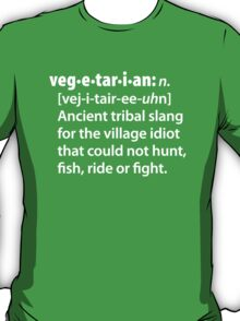 Vegetarian definition dictionairy T-Shirt