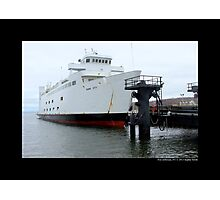 Anchored Park City Ferry To Bridgeport, Connecticut - Port Jefferson, New York Photographic Print