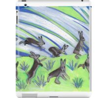 Ten Leaping Hares iPad Case/Skin