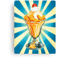 Peach Sundae Canvas Print