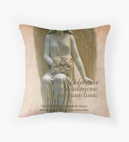 Sympathy-Is. 25:8 Throw Pillow
