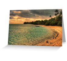 Coconut bay sunset Greeting Card