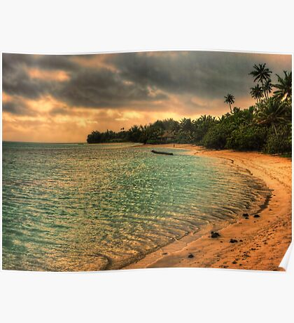 Coconut bay sunset Poster