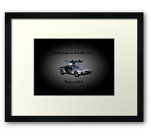 Back to Paradise City Framed Print