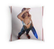 Skater Girl Future Throw Pillow