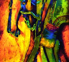 Rainbow Stirrup by pat gamwell
