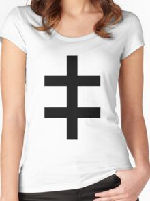 Celebritarian Corporation Black Women's Fitted Scoop T-Shirt