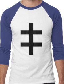 Celebritarian Corporation Black Men's Baseball ¾ T-Shirt