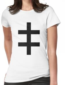 Celebritarian Corporation Black Womens Fitted T-Shirt