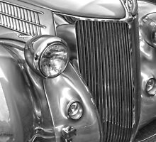 Black and White Classic 36 Ford  by Randy Branham