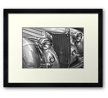 Black and White Classic 36 Ford  Framed Print