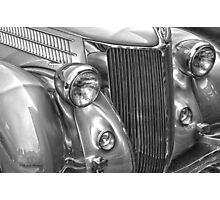 Black and White Classic 36 Ford  Photographic Print