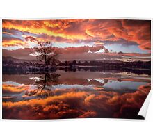 Rolling Thunder Sunset Poster