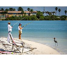 Fishing For Handouts Photographic Print