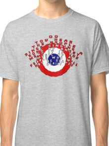 Do you hear the people sing? /bigger artwork/red text/ Classic T-Shirt