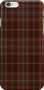 00404 Beanpole Brown Trial Tartan Fabric Print Iphone by Detnecs2013