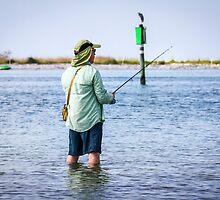 Knee Deep Fishing by Mikell Herrick