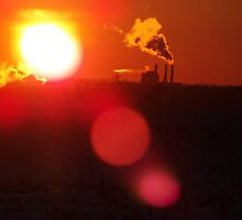 Industrial Sunset by JacobParksPhoto