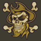 Pirate Skull by SmittyArt