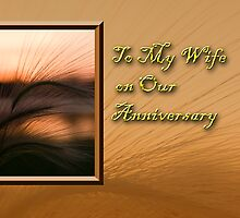 To My Wife On Our Anniversary Grass Sunset by jkartlife