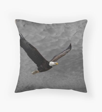 Eagle Soaring High In The Sky Throw Pillow