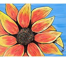 Rainbow Sunflower Photographic Print