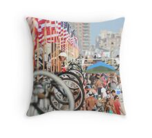 Red, White and Sand Throw Pillow