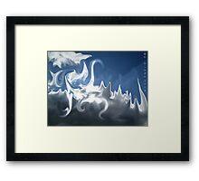 Cloud Morph Framed Print