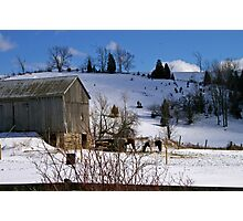 A Rural Winter........... Photographic Print