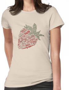 Zen Strawberry Womens Fitted T-Shirt