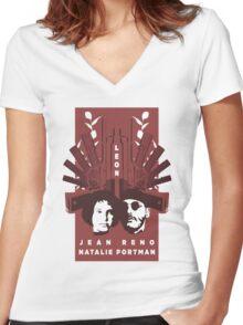 Leon  Women's Fitted V-Neck T-Shirt