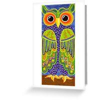 Wonderful Whimsical Owl no.1 Greeting Card