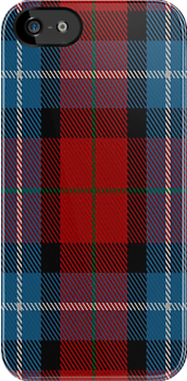 00441 Baillie of Polkemment Red Tartan Fabric Print Iphone Case by Detnecs2013