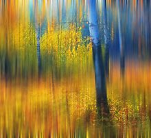In the Golden Woods. Impressionism by JennyRainbow