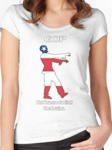 Grand Ol' Zombie Party (white lettering) Women's Fitted Scoop T-Shirt
