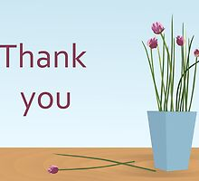 Thank you / Chives  by Jacqueline Turton