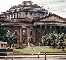 Melbourne Public Library Swanston street 1957 04160004...by Fred Mitchell by Shot in the Heart of Melbourne, 2013
