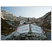 signboard  Photographic Print