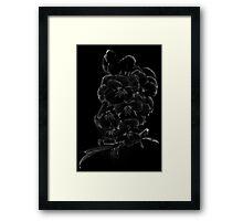 Midnite Pansies Framed Print