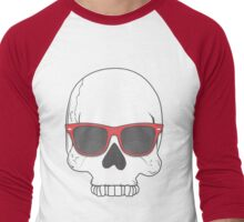 Hipster Skull Men's Baseball ¾ T-Shirt