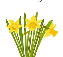 Thank you / Daffodils by Jacqueline Turton