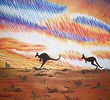Kangaroos of Colour by Sacha Whitehead