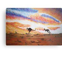 Kangaroos of Colour Metal Print