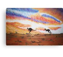 Kangaroos of Colour Canvas Print