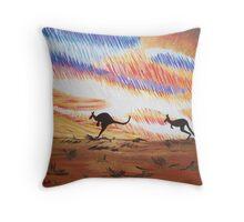 Kangaroos of Colour Throw Pillow