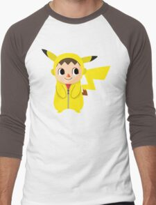 Villager Pika-Onesie Men's Baseball ¾ T-Shirt